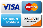 We accept all major credit cards.